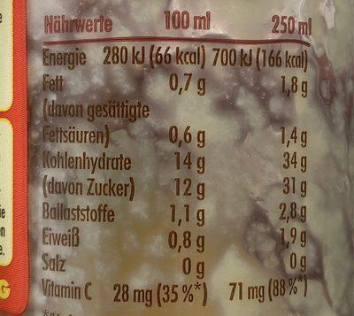 Smoothie, Ananas, Banane & Kokosnuss - Informations nutritionnelles - fr