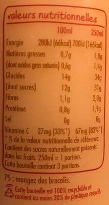 Innocent smoothie ananas, banane & coco 750ml - Valori nutrizionali - fr
