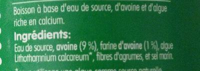 Boisson d'avoine - Ingrediënten - fr