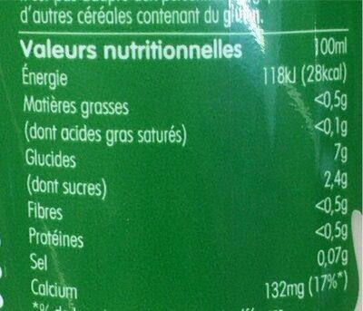Boisson d'avoine - Voedingswaarden - fr