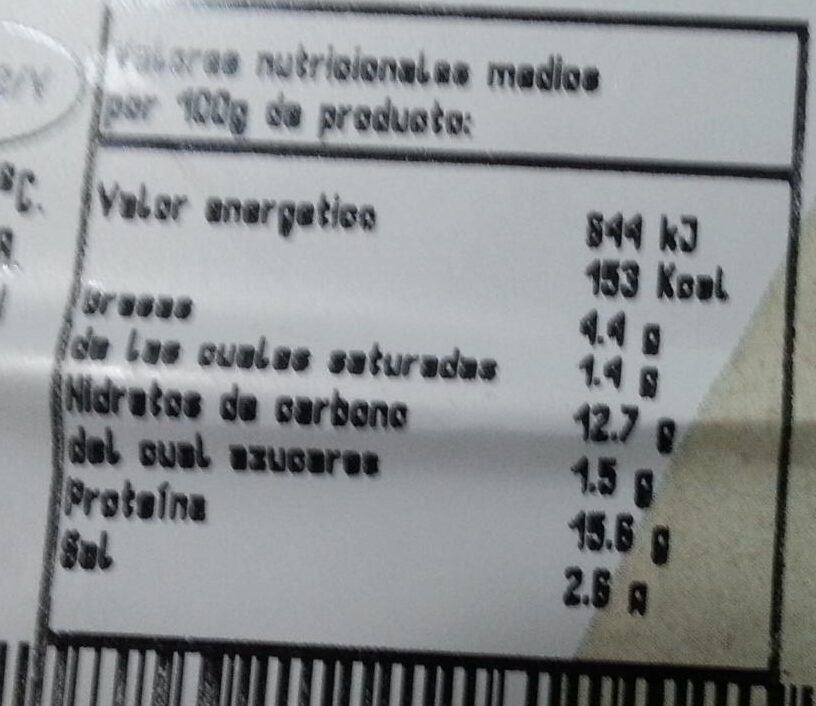 Flamenquín andaluz relleno de jamón curado - Informations nutritionnelles - es