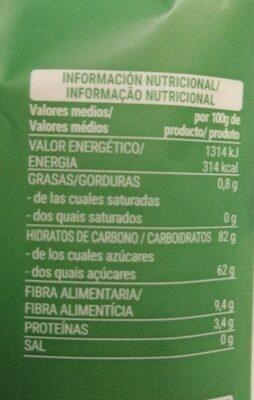 Piña - Nutrition facts - es