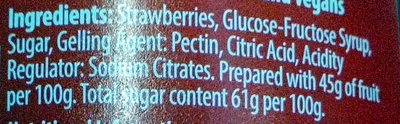 Strawberry Jam - Ingredients