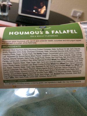 Houmous et falafel sandwich - Ingrédients - en