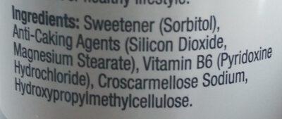 Vitamin B6 - Ingrédients - en