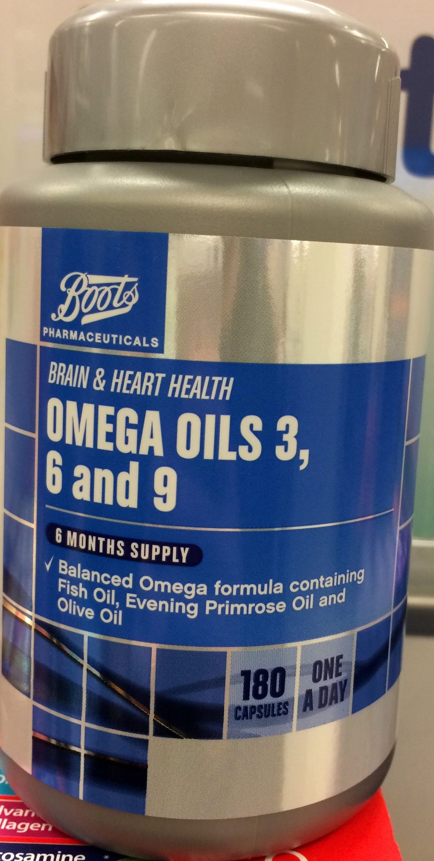 Omega Oils 3 6 And 9 Boots 180 Capsules