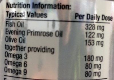 OMEGA OILS 3, 6 and 9 - Informations nutritionnelles - en