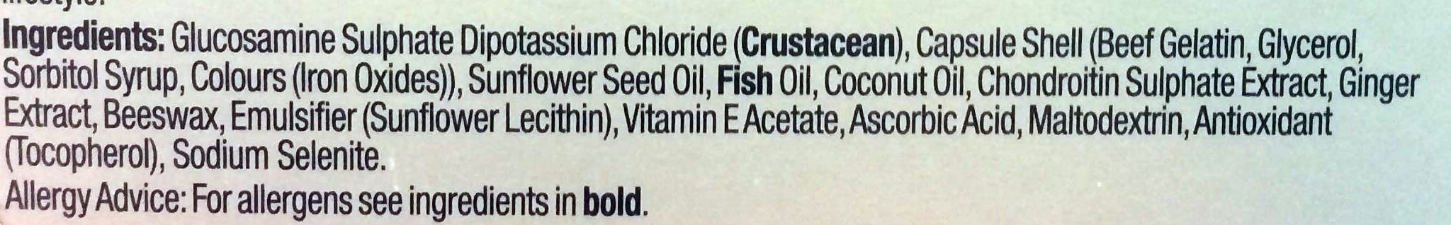 JOINTASSURE - Glucosamine, Chondroitin, Ginger - Ingredients - en