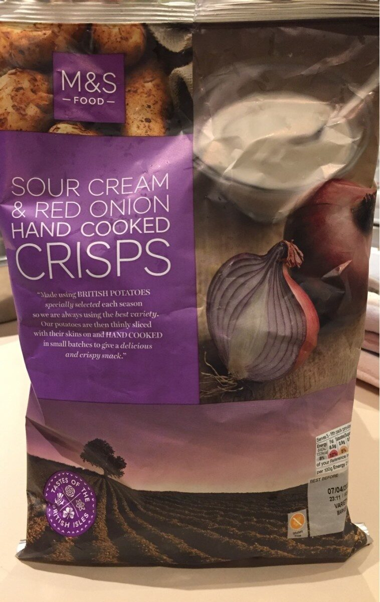 Sour cream & red onion hand cooked crips - Product - fr