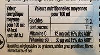 Douceur d'Orange - Información nutricional