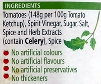 Heinz Tomato Ketchup - Ingredients