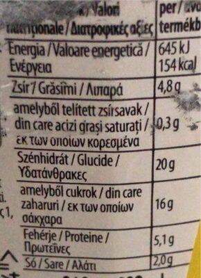 Yellow mustard senape al miele - Хранителна информация - bg