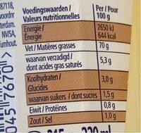 Heinz Seriously Good Mayonnaise - Voedingswaarden - fr