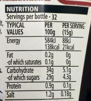 Classic barbecue - Nutrition facts - en