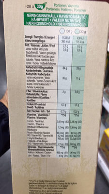 Choco Krispies - Nährwertangaben