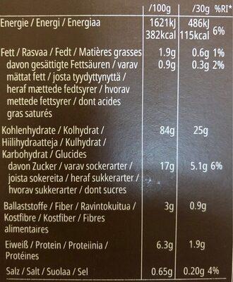 Choco Krispies - Ravintosisältö - fr