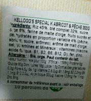 Kellogg's Special K Albic / Pesc. gr300 (e) - Nutrition facts