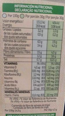 Kellogg's All Bran flakes - Información nutricional