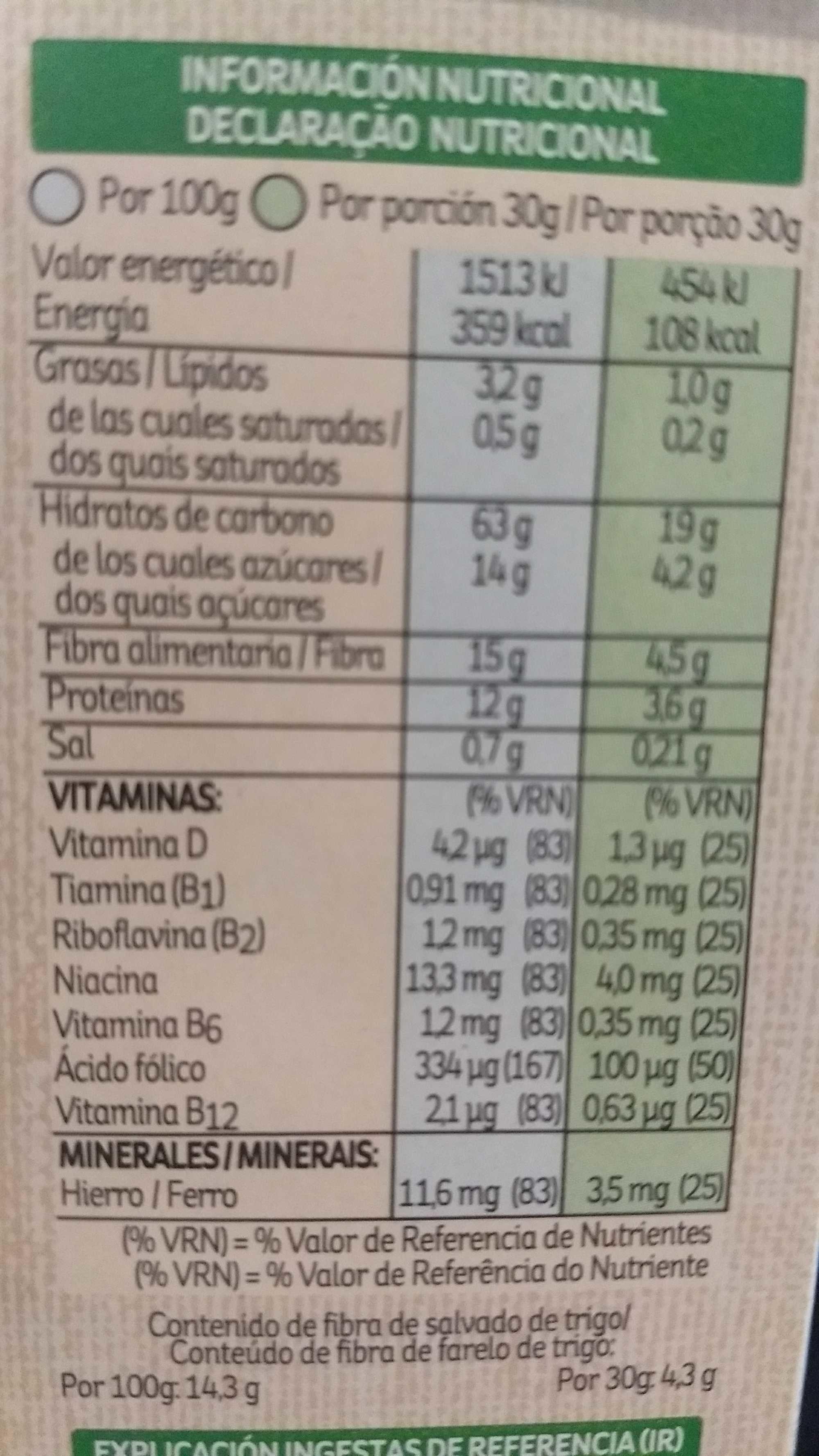 All Bran Flakes - Kellogg's - Información nutricional - es