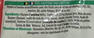 Kellogg's Extra Fruit 1.5kg - Ingrédients - fr