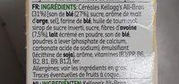 Kellogg's All-bran Nature Bars - Ingredientes