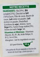 Special k chocolat au lait - Ingrédients - fr