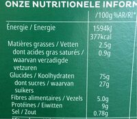 Coco pops chocos - Informations nutritionnelles - fr