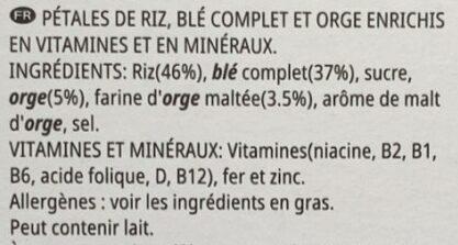 Cereales special K original - Ingrédients - fr