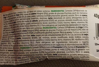 Cereales Kelloggs Bizcocho 40GR - Ingredientes