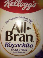 All-bran De Kellogg's Bizcochito Fruta Y Fibra (6X40G) - Product - es