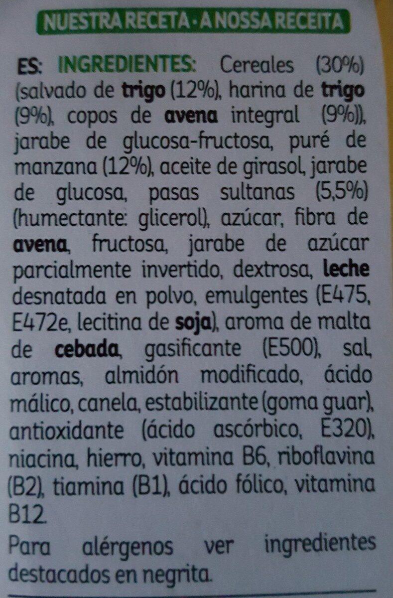 All-bran De Kellogg's Bizcochito Fruta Y Fibra (6X40G) - Ingrediënten - es
