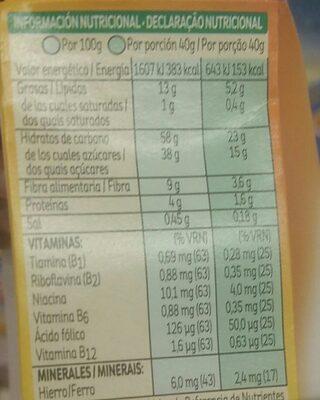 All-bran De Kellogg's Bizcochito Fruta Y Fibra (6X40G) - Voedingswaarden - es