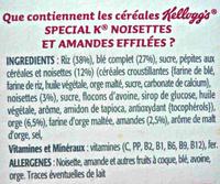 Special K - Noisettes et Amandes effilées - Ingrédients - fr