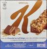Barre Special K avec du Chocolat au Lait Belge avec des céréales complètes - Produit