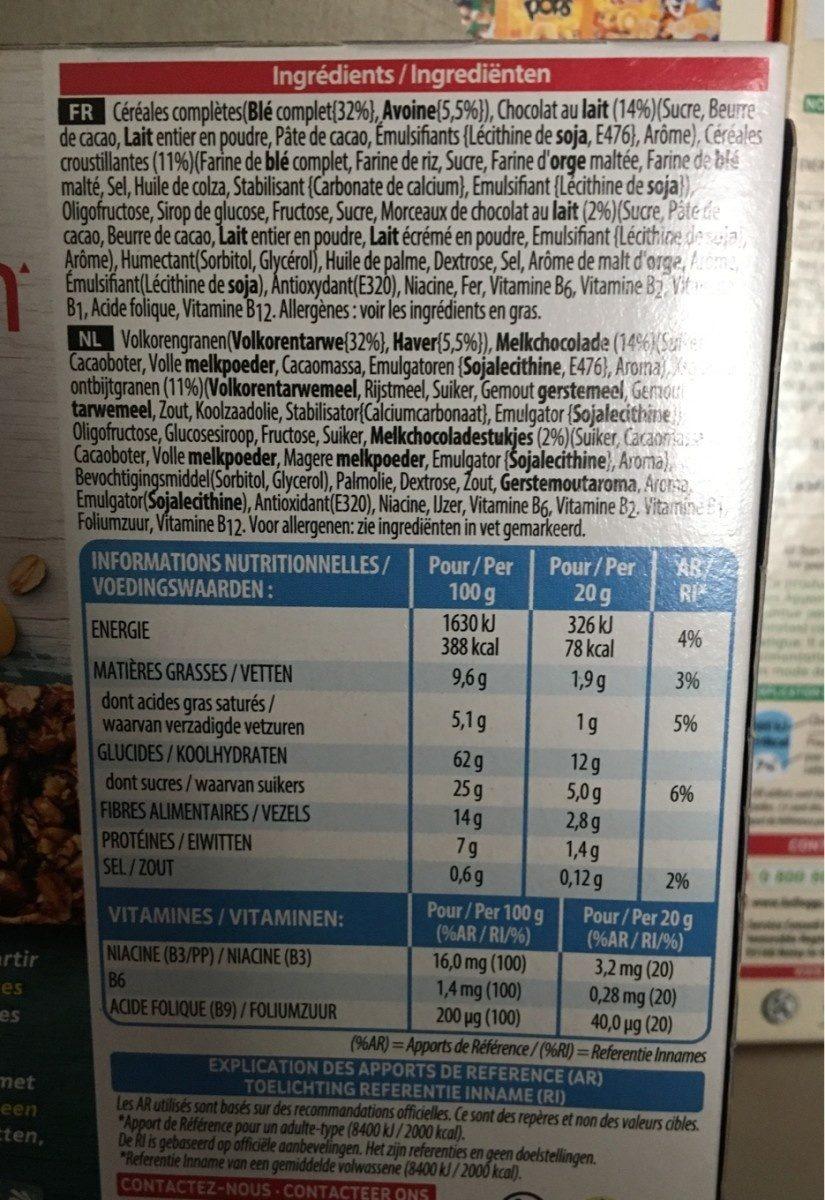 Barre de céréales - Ingredientes