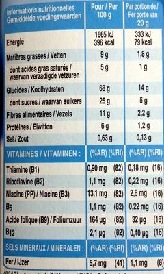 Barre Chocolat au lait - Voedingswaarden