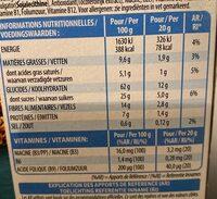 Special K Barres de céréales chocolat au lait - Información nutricional - fr