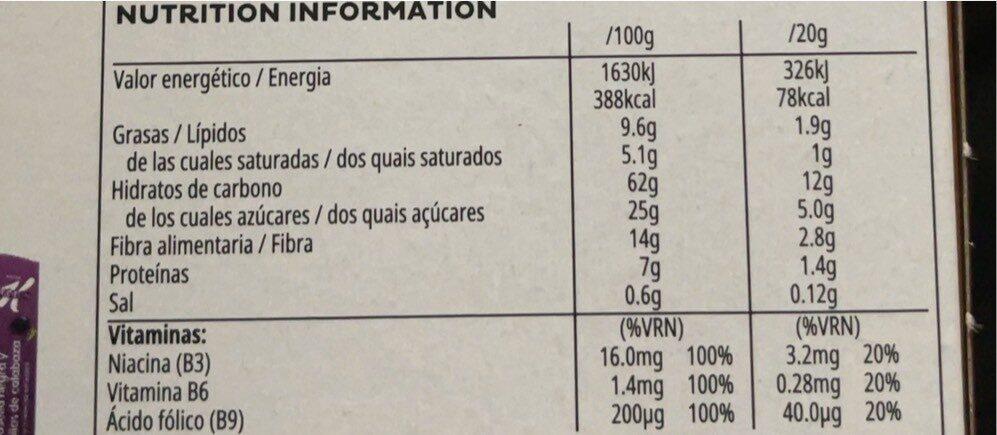 Special K con chocolate con leche belga - Informations nutritionnelles - fr