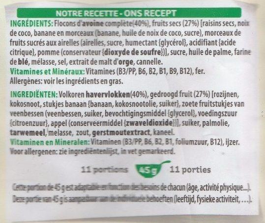 Extra pépites - Ingredients
