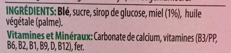 Smacks - céréales - Ingredients - fr