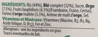 Spécial K red fruits - المكونات - fr