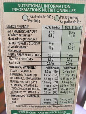 Spécial K red fruits - حقائق غذائية - fr