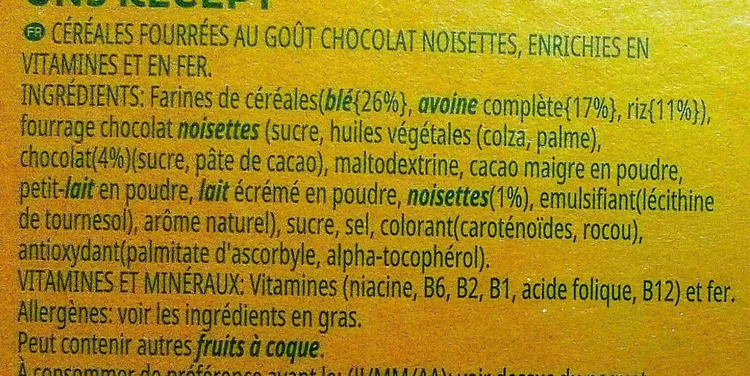 Trésor - Ingrédients - fr