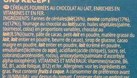 Trésor Chocolat au lait - Inhaltsstoffe - fr