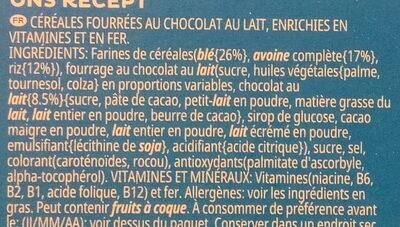 Kellogg's Trésor Chocolat au lait - Ingrédients