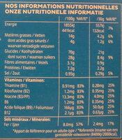 Trésor Chocolat au lait - Nährwertangaben - fr