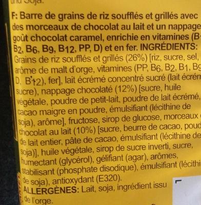 Rice Krispies Squares Choco Caramel - Ingrédients