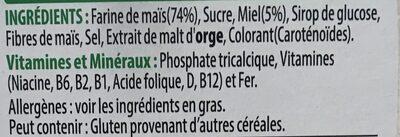 Kellogs miel pops - Ingredients - fr