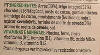 Special K chocolate negro - Ingredientes - pt