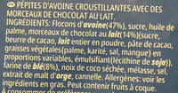 Extra chocolat au lait - Ingredienti - fr